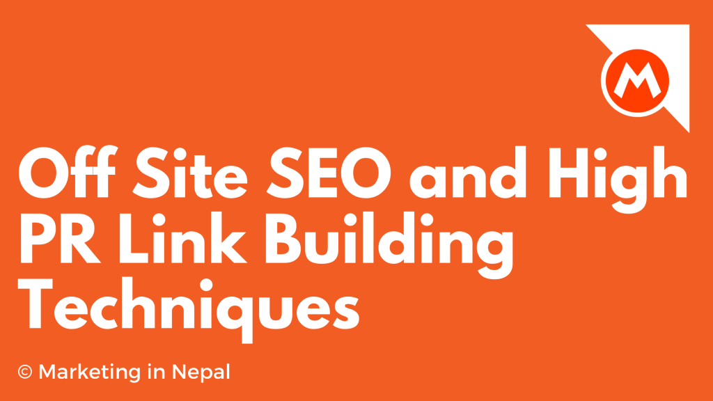 Off Site SEO and High PR Link Building Techniques