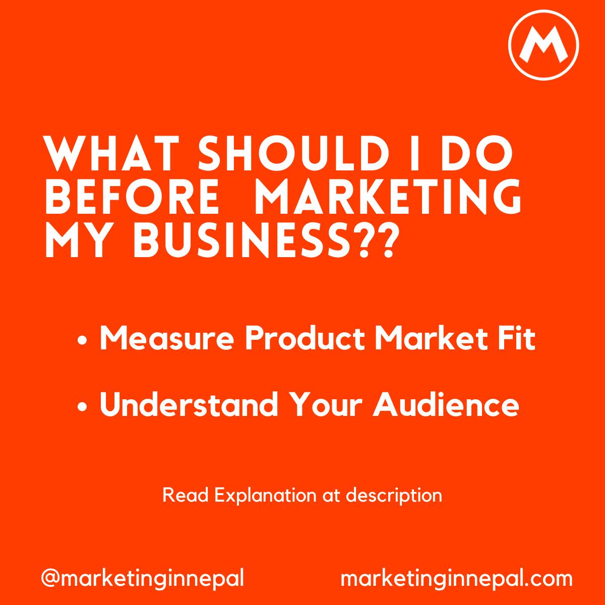 Before Marketing