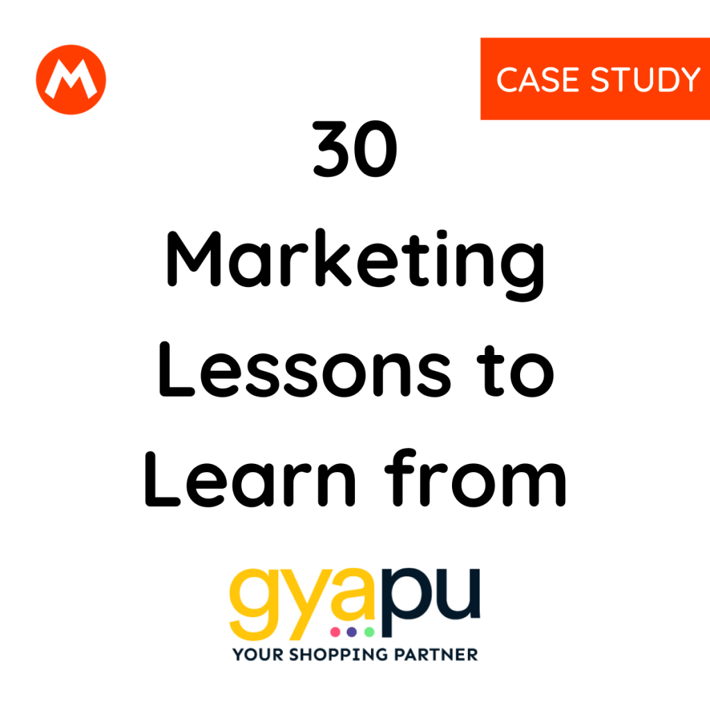 Marketing Lesson from Gyapu